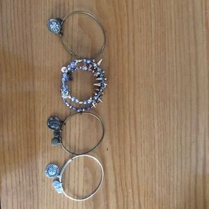 Set of Alex and Ani bracelets